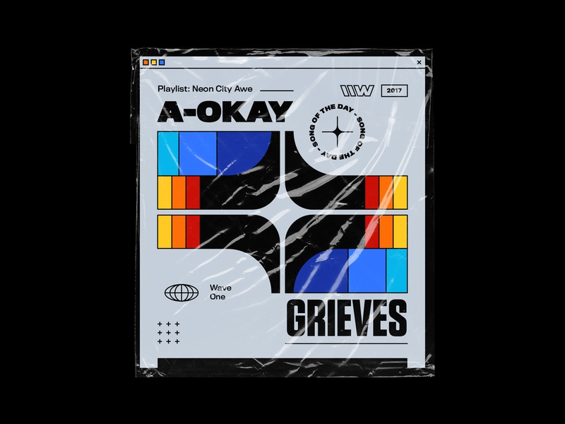 Grieves – A-Okay 70s artwork titling gothic illustration typography vintage logo symmetry branding rhox bashbashwaves