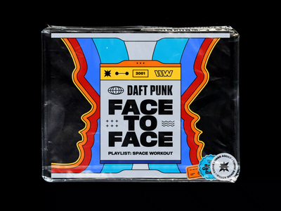 Daft Punk – Face To Face playlist illustration vintage symmetry 70s psychedelic animated artwork head profiles bashbashwaves rhox motion design french touch ed banger ed rec daft punk