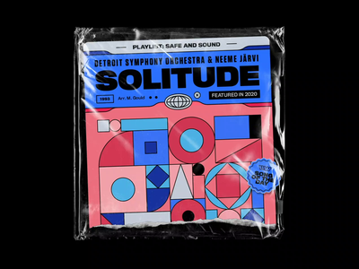 Detroit Symphony Orchestra & Neeme Jäarvi – Solitude vintage symmetry rhox titling gothic 70s plastic bag geometry abstract motion design vinyl cd artwork cover artwork playlist detroit symphony orchestra bashbashwaves solitude