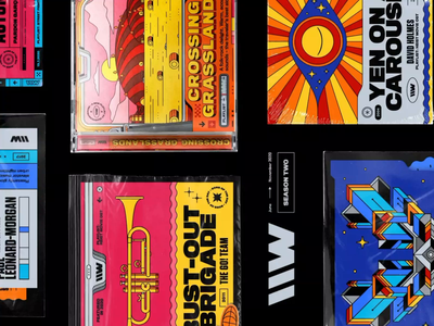 \\WAVES – season two music eye spaceship collection plastic wrap after effects behance album cover animated artwork cd packaging psychedelia vintage poster spotify motion design illustration playlist 70s rhox bashbashwaves