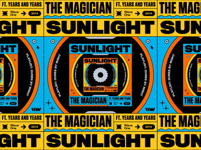 The Magician – Sunlight (feat. Years & Years) loop wheel album cover design remix smooth album artwork music artwork looping artwork the magician sunlight artwork typography spotify motion design 70s playlist titling gothic symmetry bashbashwaves rhox