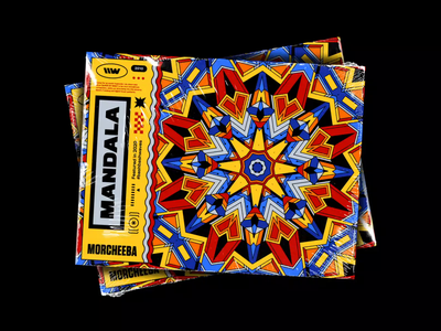 Morcheeba – Mandala typography graphic design label plastic wrap looping artwork psychedelic psychedelia mandala spotify playlist 70s rhox motion design abstract symmetry bashbashwaves vintage trip hop morcheeba