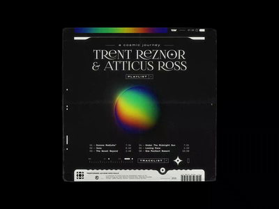 Trent Reznor & Atticus Ross – A COSMIC JOURNEY (playlist) space apple music nasa playlist cover looping artwork spotify rhox 70s motion design symmetry bashbashwaves typography nine inch nails trent reznor cosmic playlist