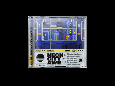 Playlist: NEON CITY AWE city life city metropolis daft punk nightvision night playlist gloomy vaporwave neon commute spotify illustration bashbashwaves train metro tube subway motion design rhox