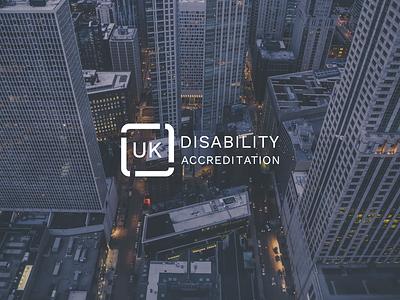 UK Disability Accreditation branding logo illustration