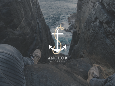 Anchor web ux ui minimal design logo illustration branding
