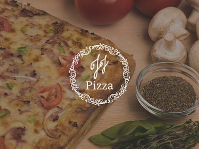 JJ's Pizza lettering typography vector minimal design logo illustration branding