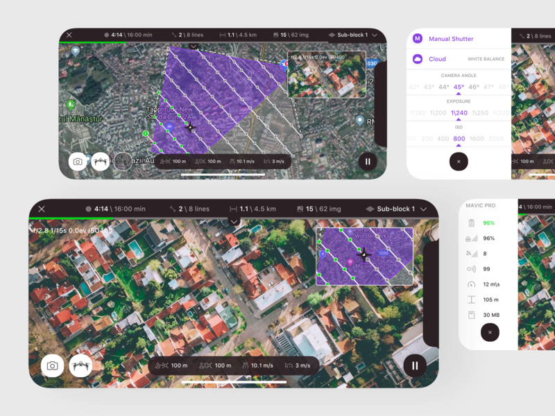 3D Flight Planner Active Mission camera settings drone settings drone mapping mission flight flight mapping iot mobile ui app mobile survey photogrammetric flight planner drone professional surveying drone surveying