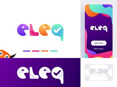 Trivia Game Logo live welcome screen game eleq logo design branding colorful monster mobile playful logo trivia