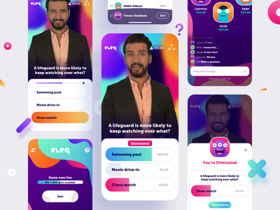 Live Trivia Game App mobile app join eliminated live chat eleq answer question money prize game host app live trivia