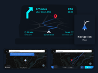 Car Navigation Head-up Display & App UI