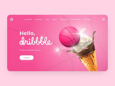 Hello, dribbble! web ux hello dribble ui design