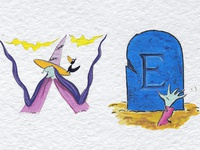 Halloween alphabet 1