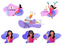 Illustrations Lucky Crush