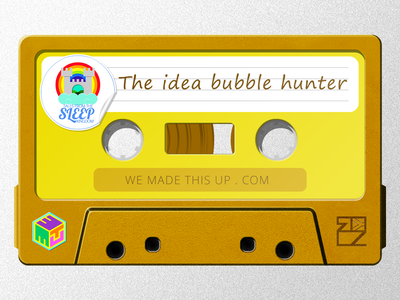 Sleep Kingdom - The Idea Bubble Hunter - Cassette thumbnail story telling soundcloud illustration cape town