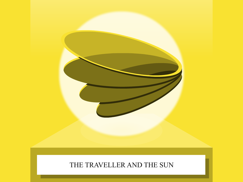 The Traveler And The Sun  - SoundCloud thumbnail thumbnail story telling soundcloud illustration cape town