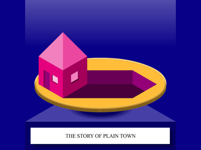 The Story Of Plain Town - SoundCloud thumbnail icon thumbnail story telling soundcloud illustration cape town