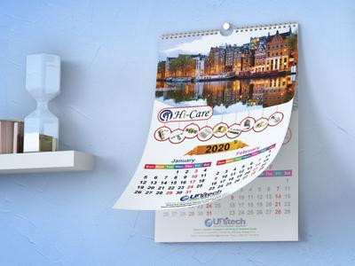 Wall Calendar Design 2020