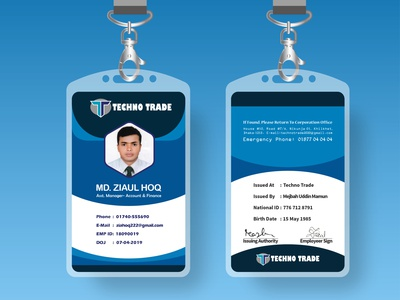 ID Card business vector card design creative design branding typogaphy conference graphic design logo id name card name tag id card design illustration design id card badge