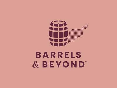 B&B Dubai ampersand cork pink burgundy stain dotted dot bottle shadow sommelier academy spirit whiskey wine barrel logo