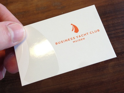 BYCM stationery logo nautical ocean yacht tie orange business club boat business card print sailing sea yachting cruising