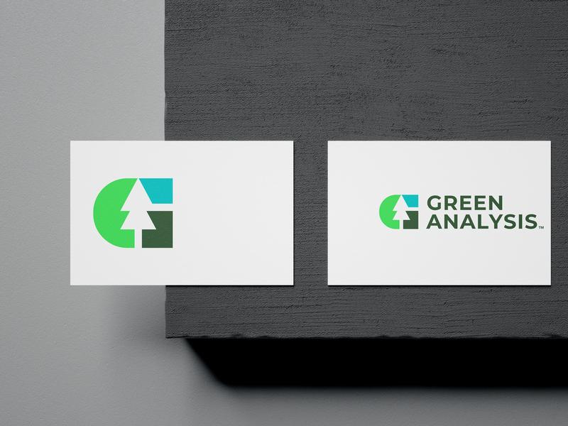 Green Analysis pine letter environment sky negative green chart nature tree initials monogram logo