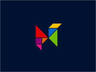 China Tangram learning triangle knowledge experience logo initials tangram education network online colorful multicolor puzzle structure tradition thinking geometry