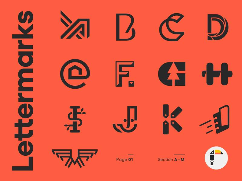 Lettermarks Roundup symbol mark monogram selection alphabet collection roundup lettermark letter logo