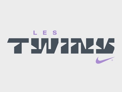 Les Twins music fashion twins jordan nike style dance hip hop future display custom typography logotype logo