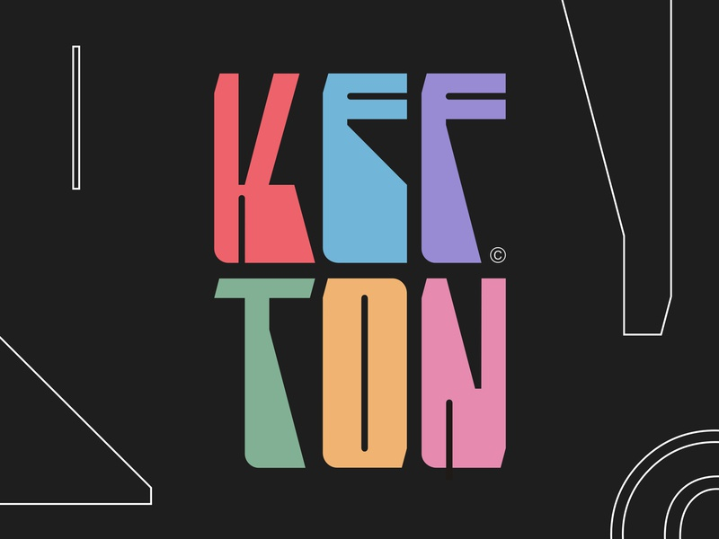 Kefton future kefton vibe positive colorful logotype logo typography display hip hop dancing dance art music