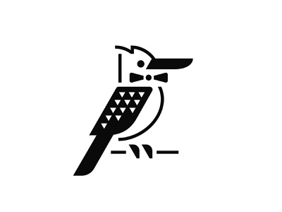 K Foods logo distribution logistics branch beak bowtie tie bow food premium australia kookaburra bird animal