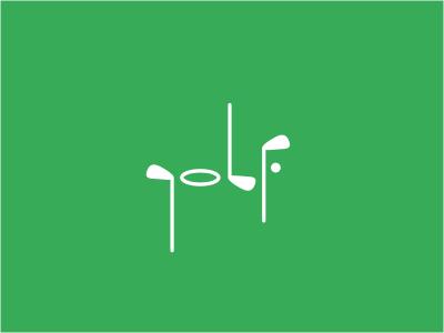 Golf fusion logo display outdoor green minimal sports custom golf tournament health