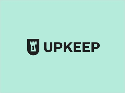 Upkeep Tower royal service cleaning home trust keyhole logo shield tower key green king