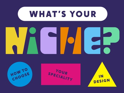 Briefbox Blog > What's Your Niche? geometry niche colorful typography blog article cover illustration