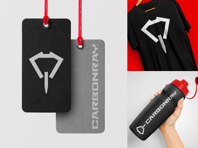 C-Ray Fitness strong diamond element fashion science tech carbon ray stingray futuristic lifestyle training sports crossfit fitness logo animal
