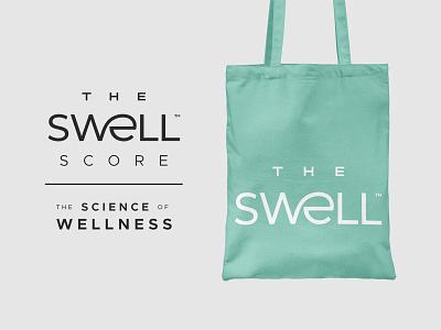 TSSW medical typography ligature science wellness health wave swell logotype logo