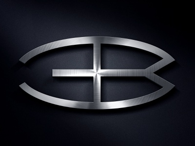 Bugatti Logo Redesign Concept initials monogram bugatti luxury car automotive metal logo