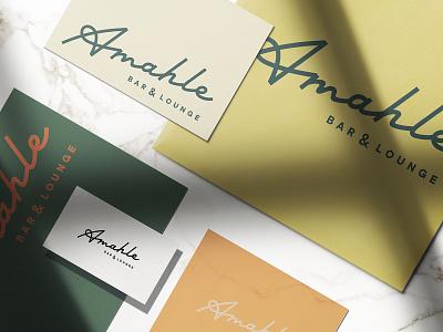 Amahle style luxury entertainment lounge bar monoline custom script typography lettering logotype logo