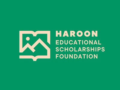 H E S F peak skiing ski tradition legacy school gold green monoline sun foundation mountain book education logo