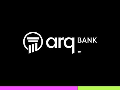 ArqBANK analysis chart shadow online financial finance banking bank innovation modern retro tradition pillar logo