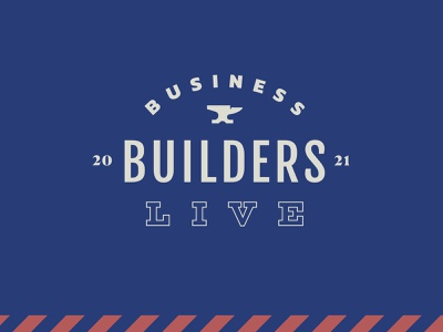 BBL iron retro number year live building workshop anvil business typography event crest logo