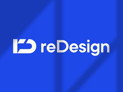 ReDesign Agency message communication media marketing web agency blue innovation phase loop initials monogram redesign logotype logo