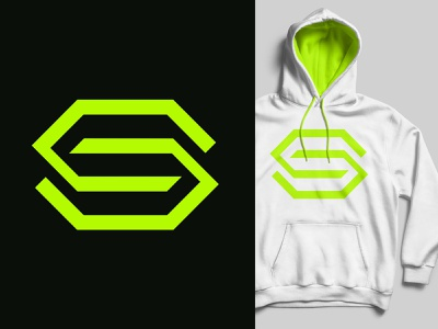 Sports Center lime green negative dynamic monogram hoodie fashion label wear center hub hive sports logo
