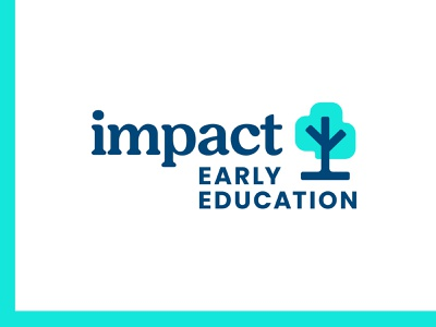 Impact E E cloud seed branch impact training nature teach school growth learning education tree retro typography logotype logo