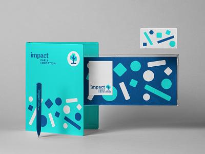 Impact E E Brand growth system learning pen nature tree promo pattern t shirt notebook stationery identity print education impact logo