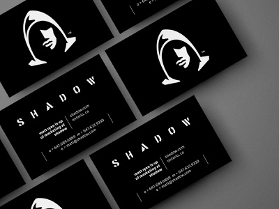 Shadow business card cannabis face marijuana weed hemp cbd strong night dark shadow hoodie head human logo