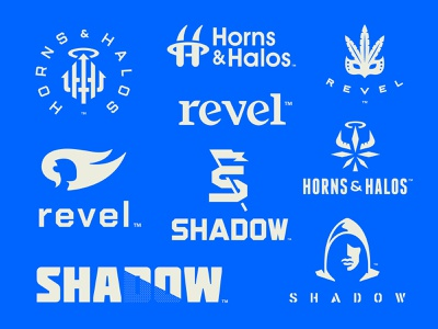 Hemp Projects Blueprint shadow flag cbd cannabis marijuana weed hemp hoodie halo mask head horn human typography logotype roundup blueprint logo
