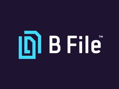 BFILE maze it software cloud pension insurance paperclip clip file logo