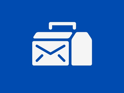 Toolbox Post management resource notification sms system post toolbox letter mail box logo
