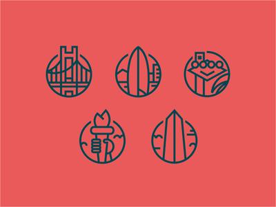 WFTBD6 icon city line circle round event illustration icons t shirt adventure work crest